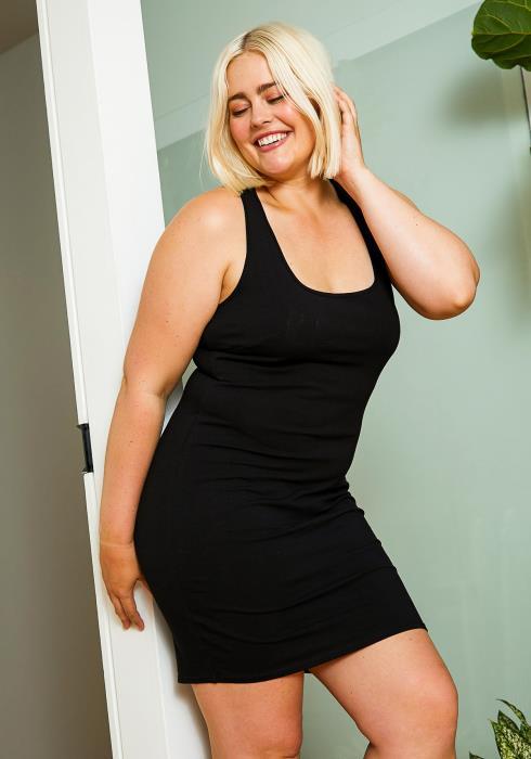 Asoph Plus Size Womens Basic Tank Dress