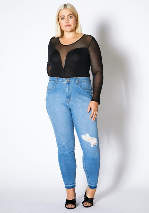 Asoph Plus Size Light Wash Women Denim Jeans