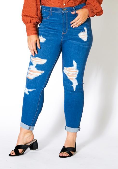 Asoph Plus Size Womens Mescal Denim Skinny Jean