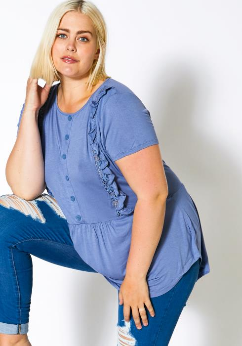Asoph Plus Size Everyday Womens Casual Blouse