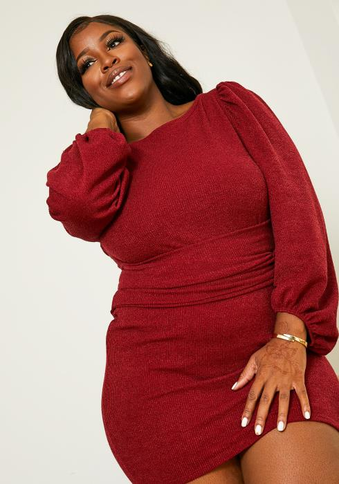 Asoph Plus Size Sweater Party Dress