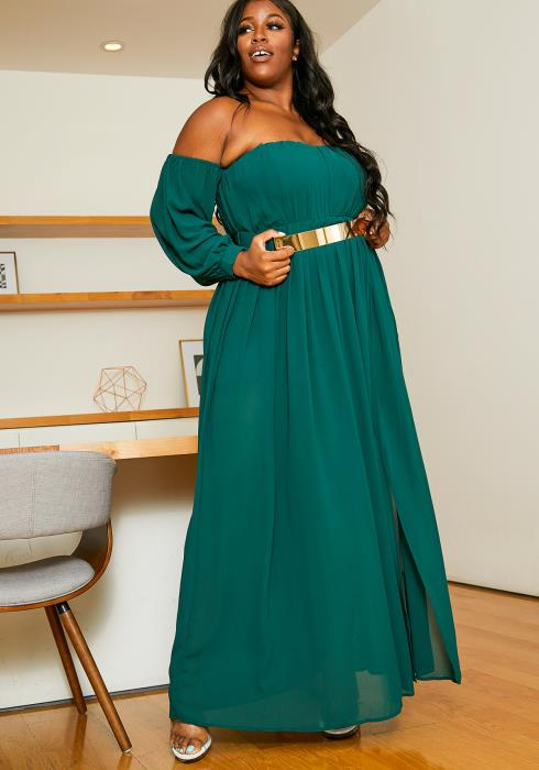 Asoph Plus Size Elegant Maxi Party Dress