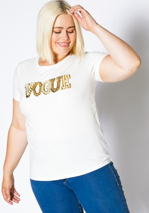 Asoph Plus Size Vogue Womens Graphic Tee Shirt