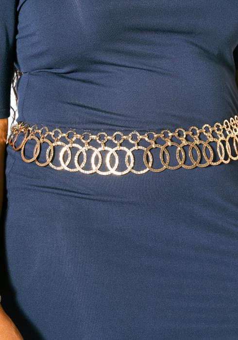 Plus Size Customized O Ring Chain Belt