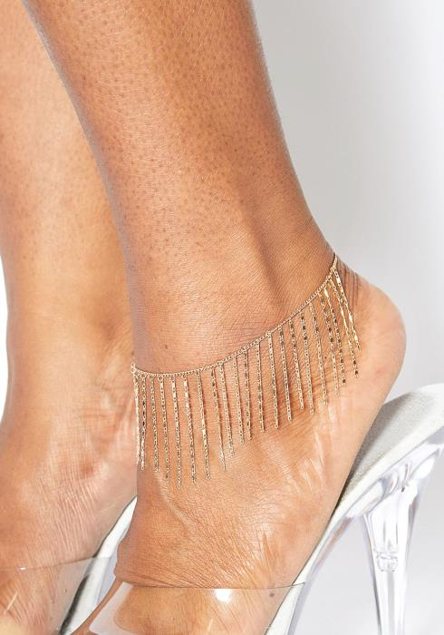 Plus Size Customized Gold Fringe Anklet