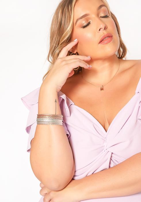 Plus Size Customized Imperbell Mixed Multi Bracelets Set