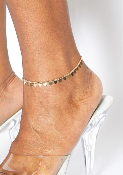 Plus Size Customized Sweet Heart Anklet