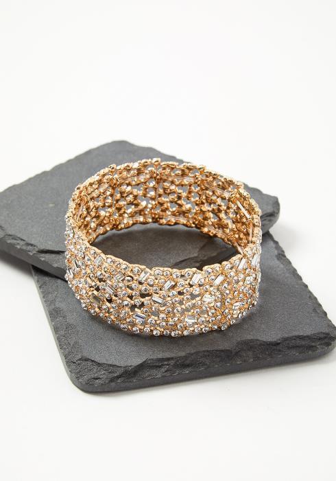 Plus Size Customized Cirrus Gold Diamond Bracelet Cuff
