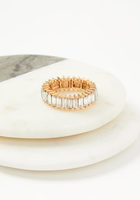Riva Plus Size Elastic Ring Clear