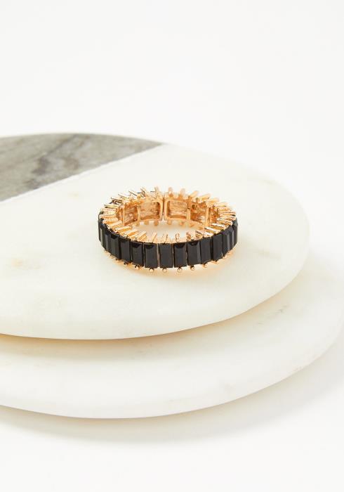 Riva Plus Size Elastic Ring Black