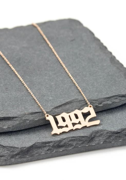 Gold 1992 Year Necklace