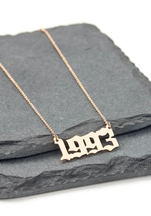 Gold 1993 Year Necklace