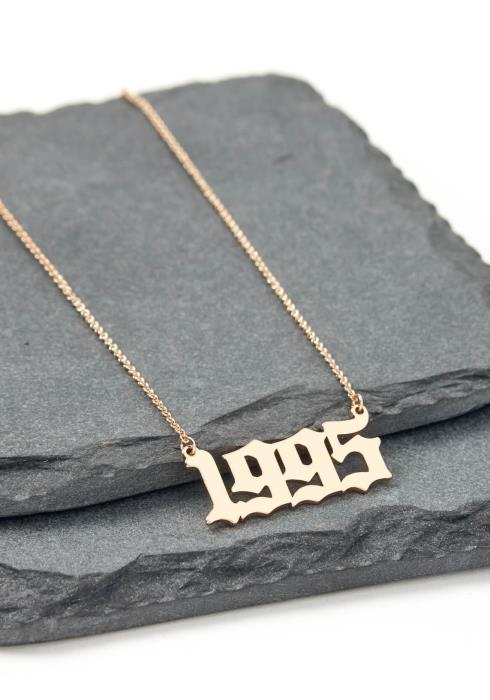 Gold 1995 Year Necklace