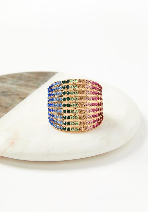 Verndale Multi Color Plus Size Fashion Ring