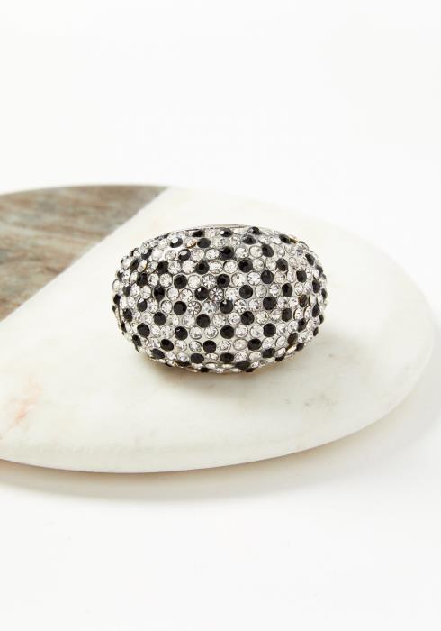 Black & White Plus Size Fashion Ring