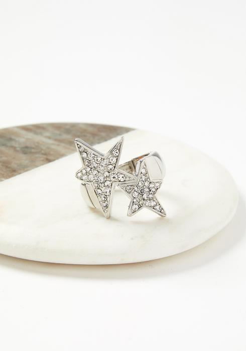 Shelby Double Star Adjustable Elastic Ring