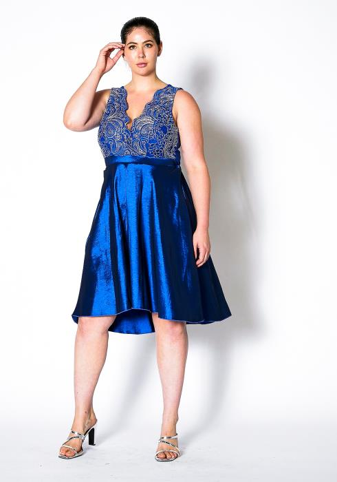 Asoph Plus Size Royal Homecoming Party Dress