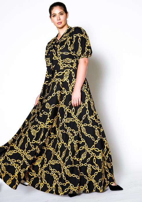 Asoph Plus Size Chained Maxi Dress