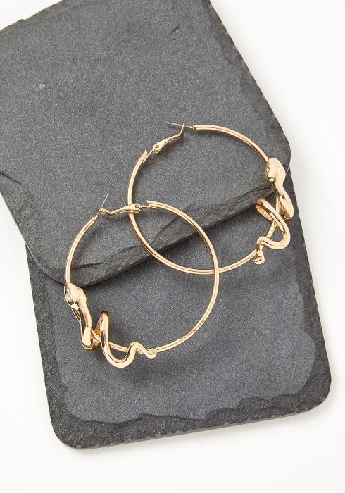 Golden Snake Hoop Earring