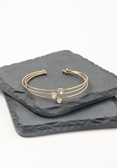 Three Stone Cuff Bracelet Set