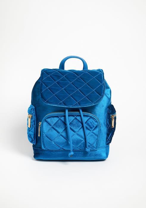 Asoph Velvet Quilted Medium Backpack
