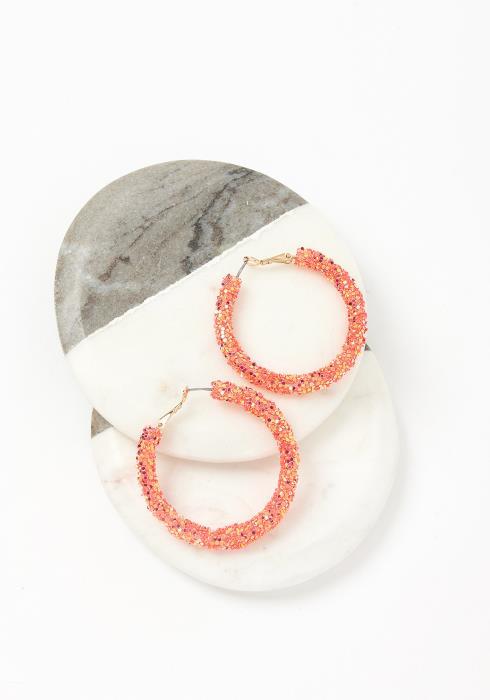 Sweet Sugar Hoop Earrings