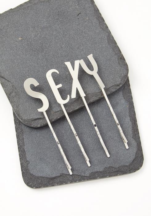 SEXY Matte Silver Hair Pin Set
