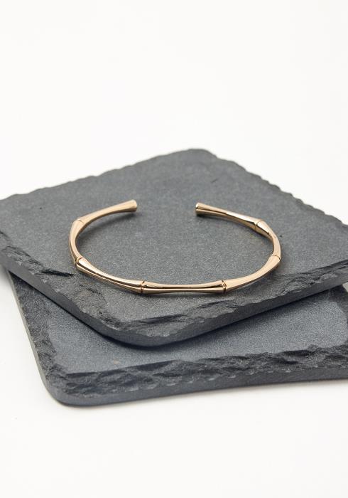 Gold Bamboo Cuff Bracelet