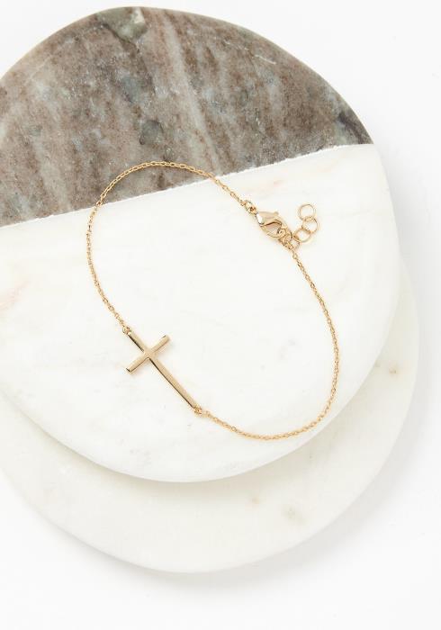 Cross Chain Dainty Bracelet