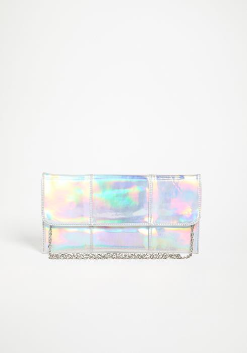 Asoph Holographic Envelope Clutch Bag