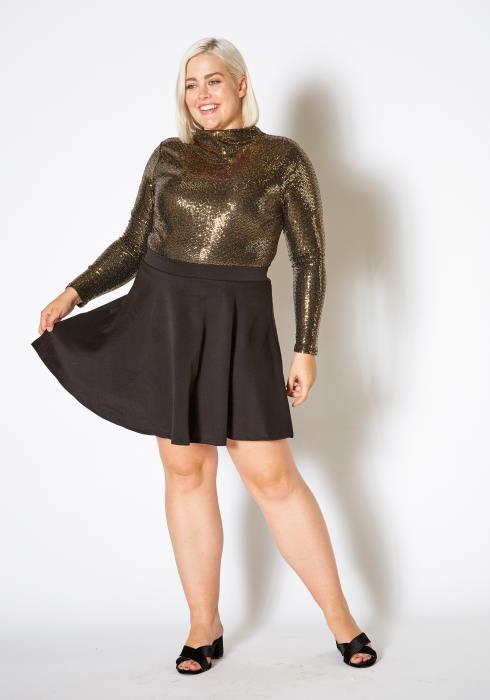 Asoph Curvy Womens High Waisted Circle Skirt
