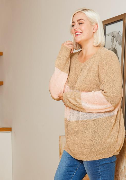 Asoph Plus Size Womens Forever Cozy Oversize Sweater Top
