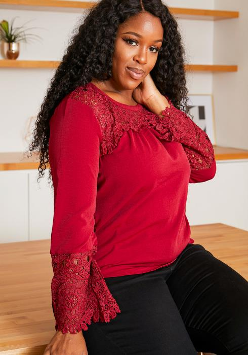 Asoph Plus Size Casual Embroidered Women Blouse