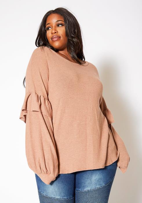 Asoph Plus Size Wool Knit Oversized Women Sweater