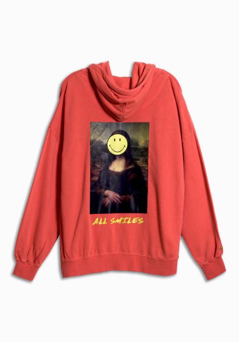 Smiley x Kuwalla Lisa Hoodie in Red