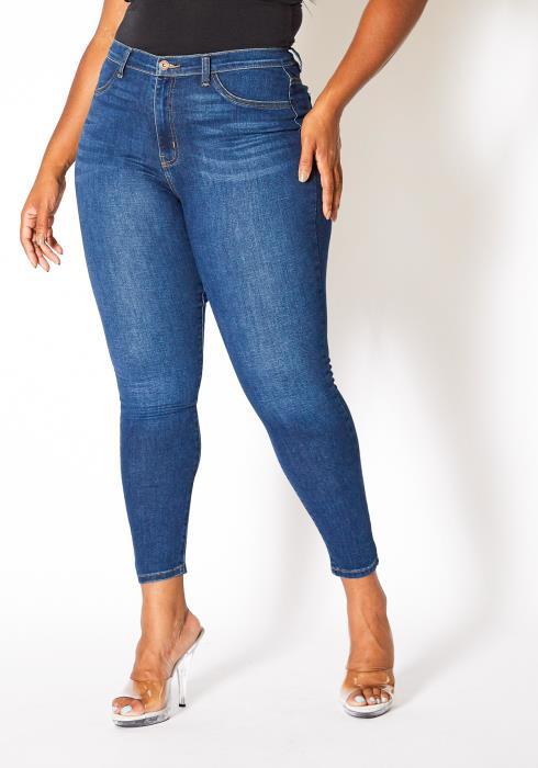 Asoph Curvy Womens Favorite Dark Wash Denim Jeans