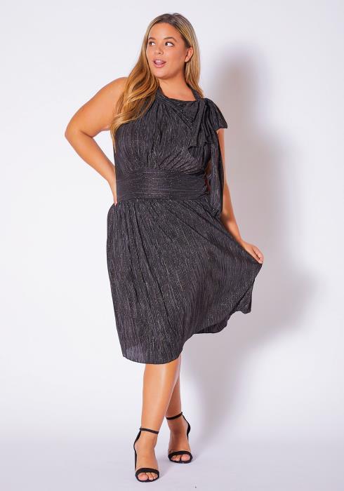 Asoph Plus Size Elegance Flatters Shimmer Womens Dress