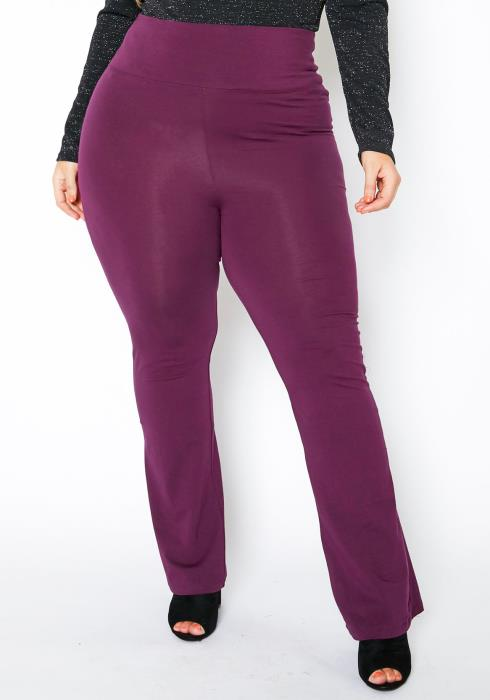 Asoph Plus Size Womens High Waisted Flare Leggings