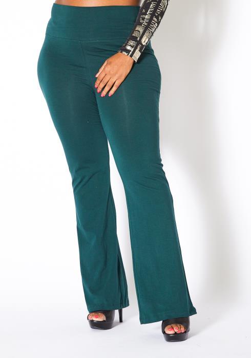 Asoph Plus Size Womens High Waisted Flare Leggings