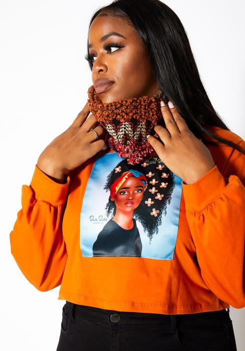 Asoph Womens Rustic Crochet Circle Scarf