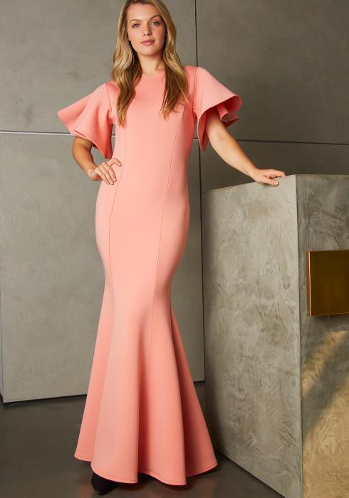 Tansy Womens Simply Elegant Mermaid End Maxi Dress
