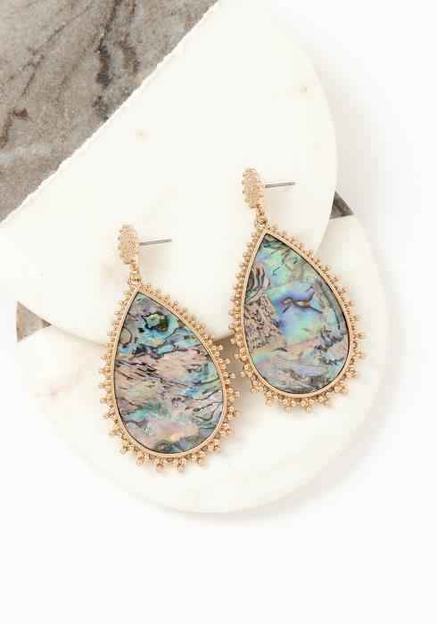Asoph Amsterdam Gold Marble Earrings