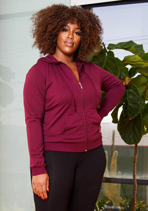 Asoph Plus Size Everyday Womens Hoodie Sweater