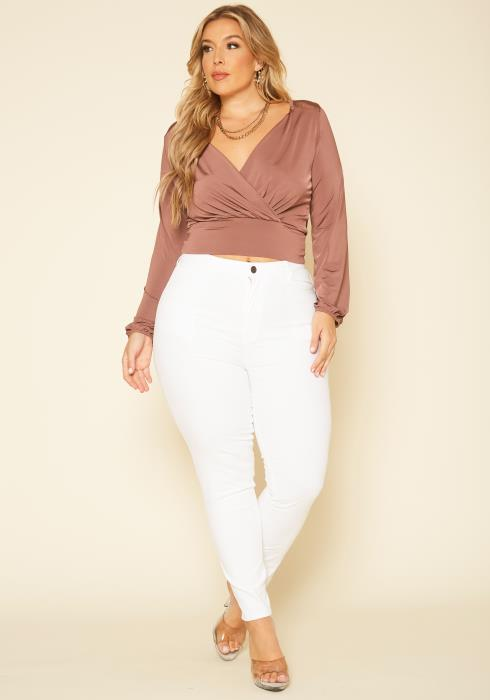 Plus Size Smooth High Rise Skinny Jeans