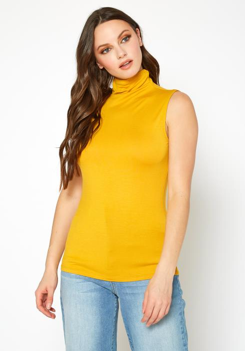 Bellatrix Sleeveless Turtle Neck Fitted Top