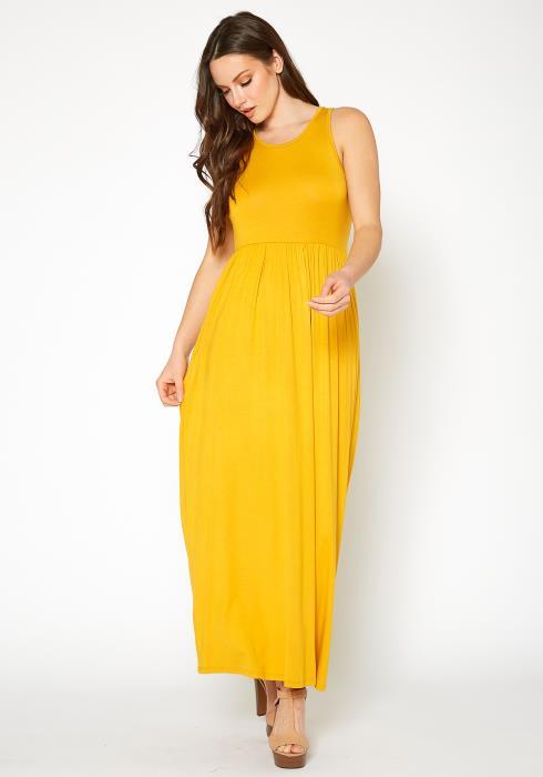Bellatrix Womens Sleeveless Pleated Maxi Dress