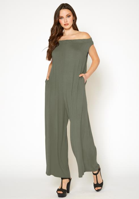Bellatrix Off Shoulder Wide Leg Jumpsuit