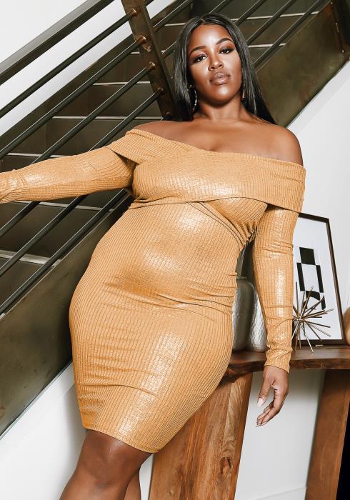Asoph Plus Size 5pm Sunset Dress