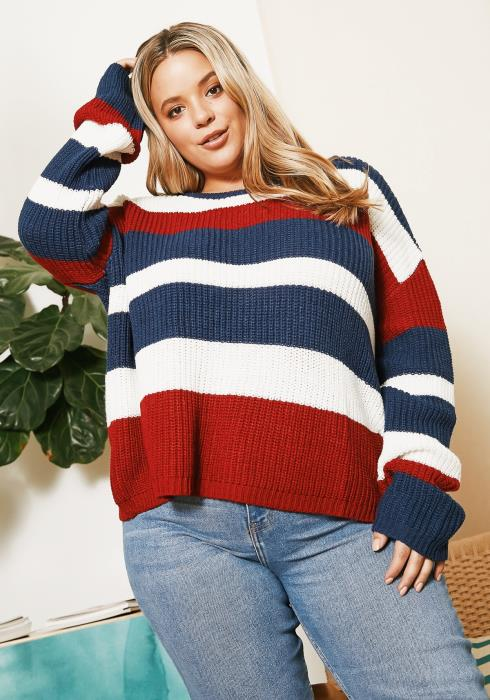 Asoph Plus Size Cozy Casual Oversized Sweater