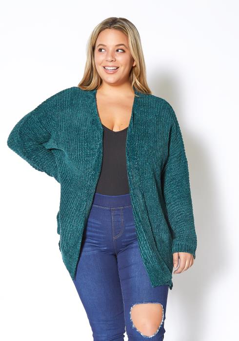 Asoph Plus Size Plushy Oversized Cardigan